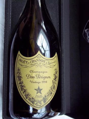 Bottle of Dom Perignon Champagne