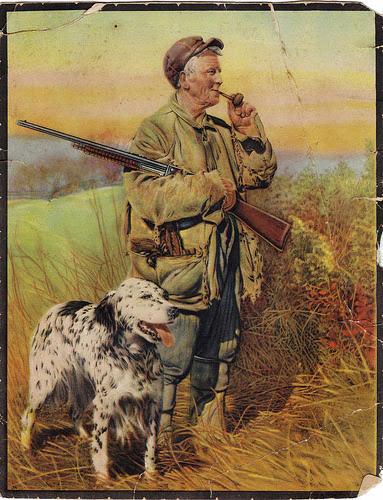 dog hunting man