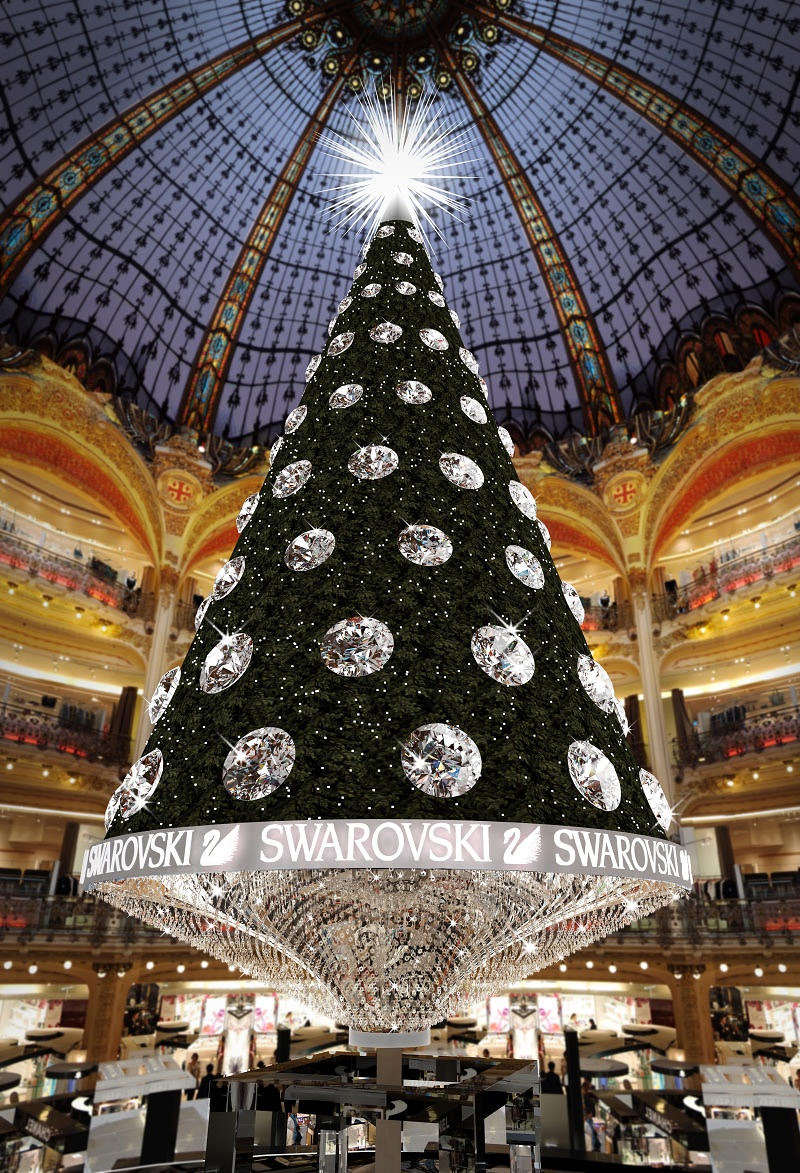 Galeries lafayette paris celebrates centenary in style - Magasin deco noel paris ...