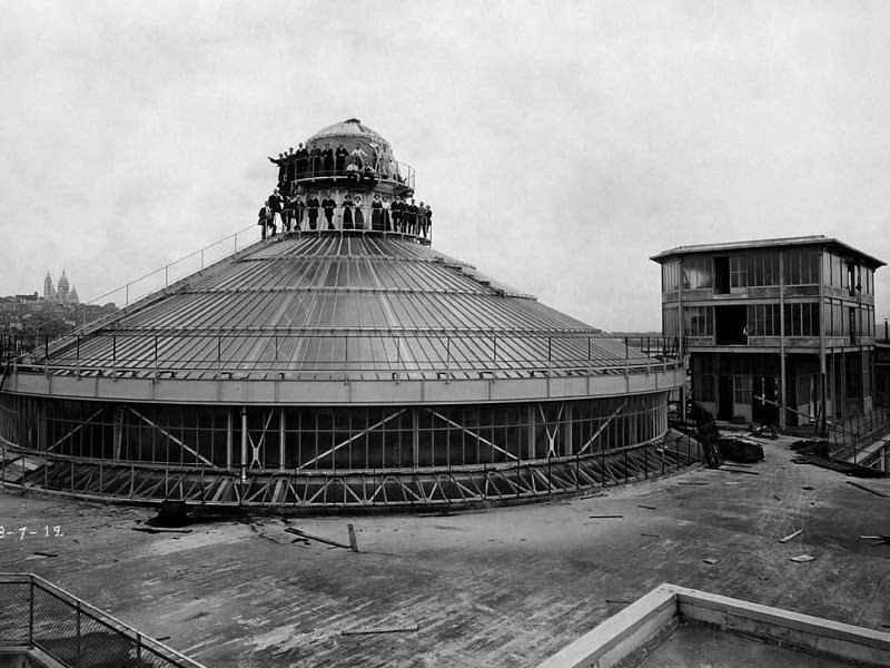 Construction of the Galeries lafayette dome