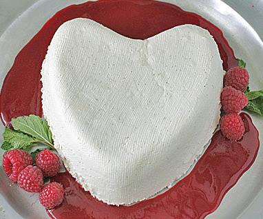 Coeur a la Creme pudding