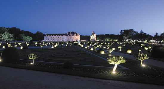 candlelit gardens of Chenonceau
