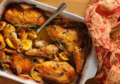 Slow Roasted Chicken with Garlic and Lemon : The Good Life France