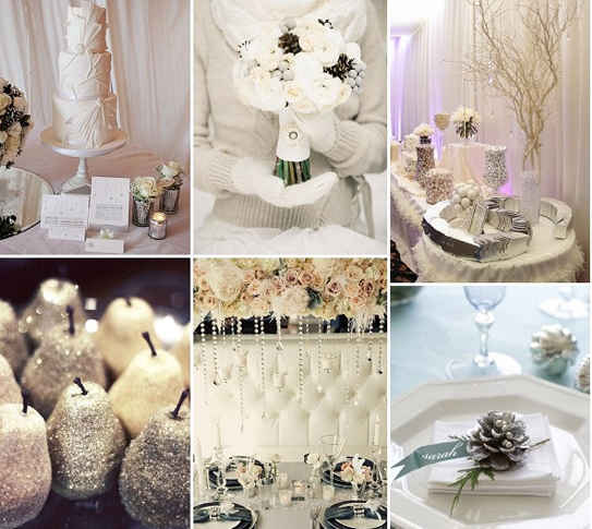 White and silver christmas tree decorating ideas - French Style Winter Wedding Ideas The Good Life France