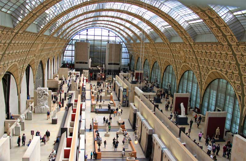 View over the ground floor of the Orsay Museum, Paris
