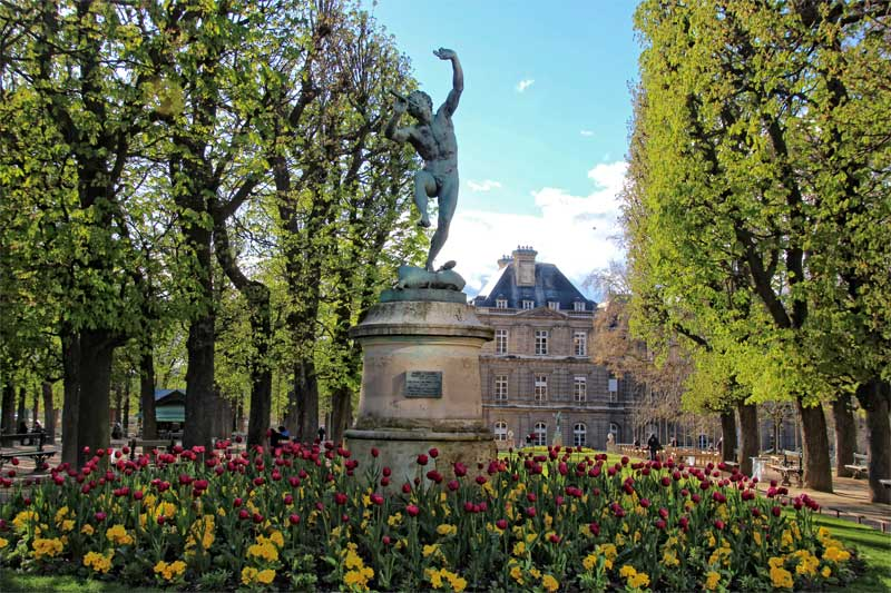 Palace of Luxembourg in the Luxembourg Gardens, Paris