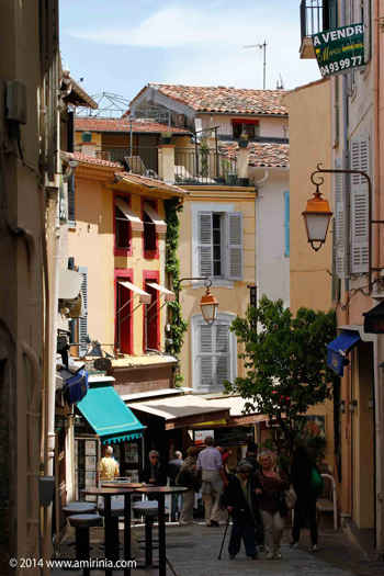pretty street in cannes