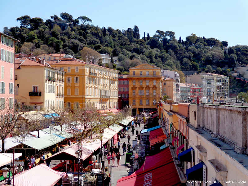 Cours Saleya Nice market overview
