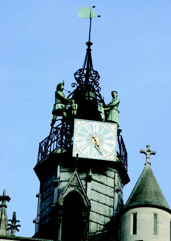 Dijon and its famous clock