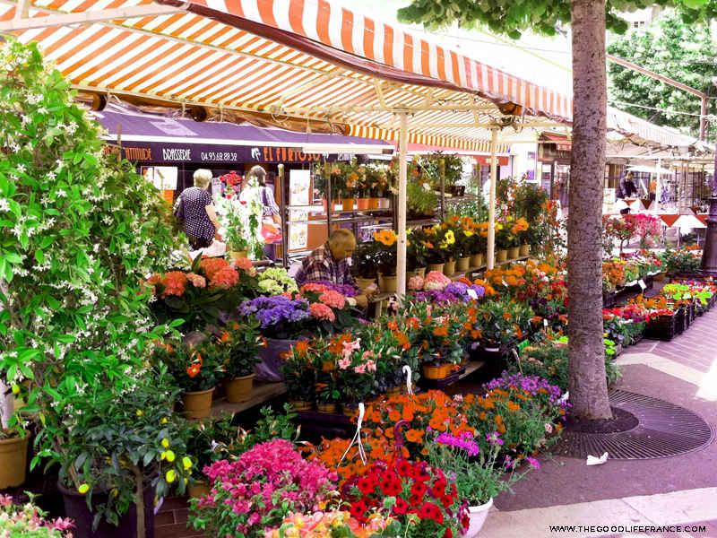 cours Saleya Nice market flower stall
