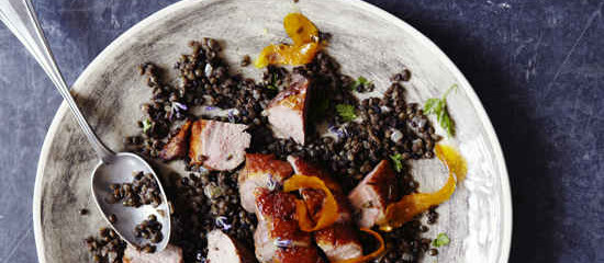 Smoked Duck breast and Lentils with Lavender