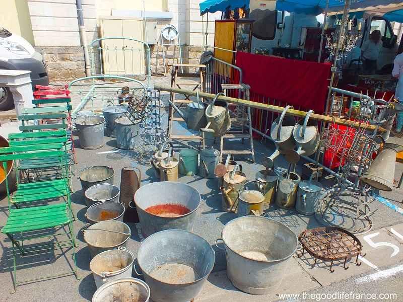 flea metal ware at flea market