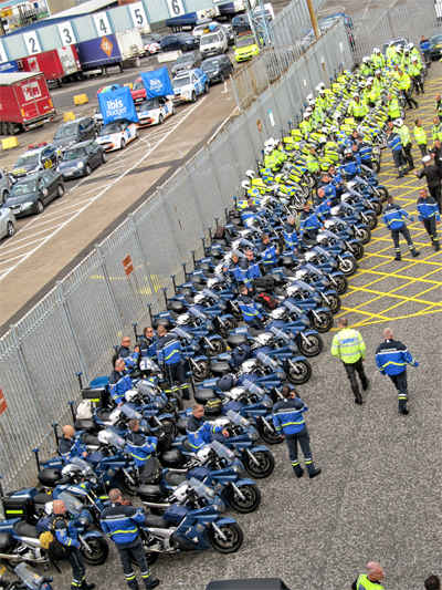 Tour de france logistics from the uk to france the for Police tours