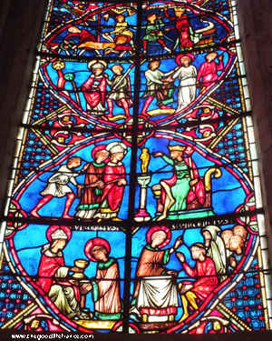 bourges cathedral glass
