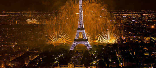 Best place to watch Bastille Day Fireworks in Paris July 2014