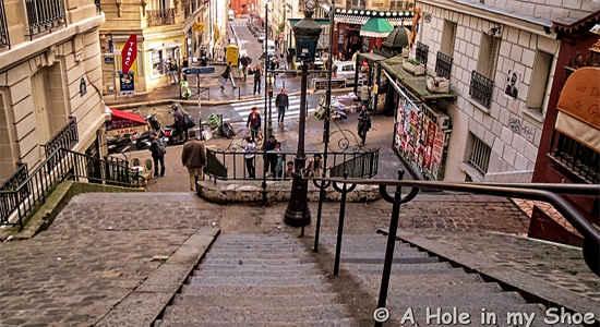 hilly street montmartre paris
