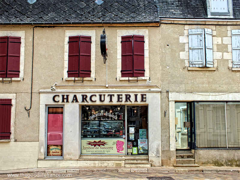 Vintage looking butcher's shop in Sancerre, Loire Valley