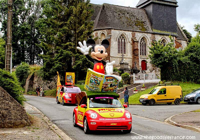 tour de france Mickey Mouse