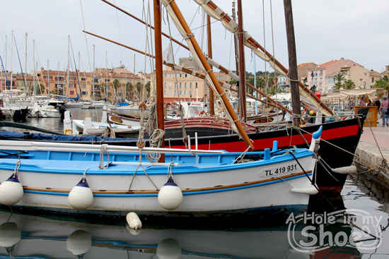 bandol boats in harbour