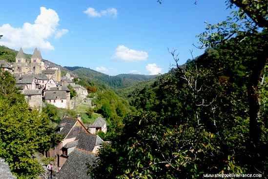 conques village view