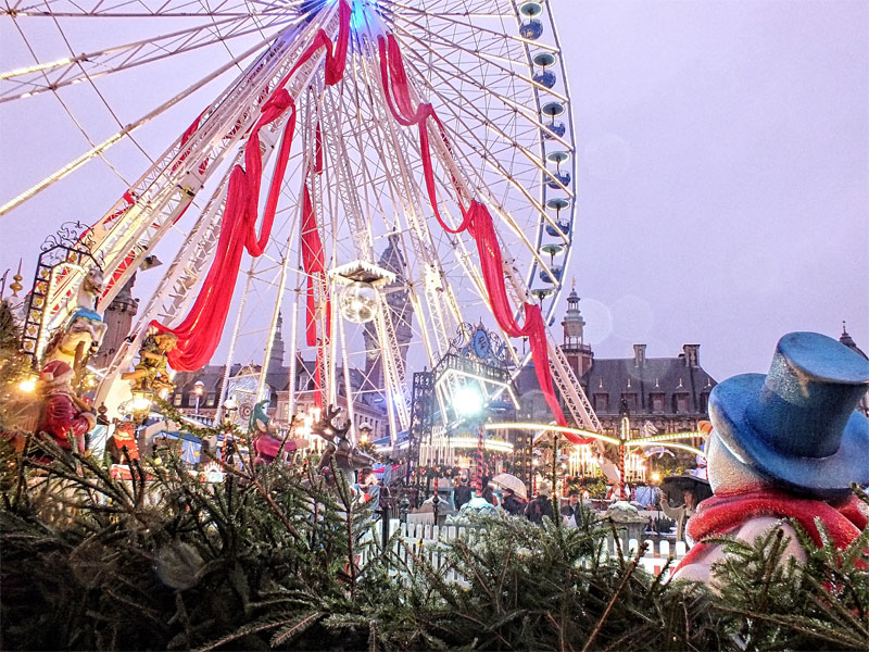Christmas market at Lille, northern France