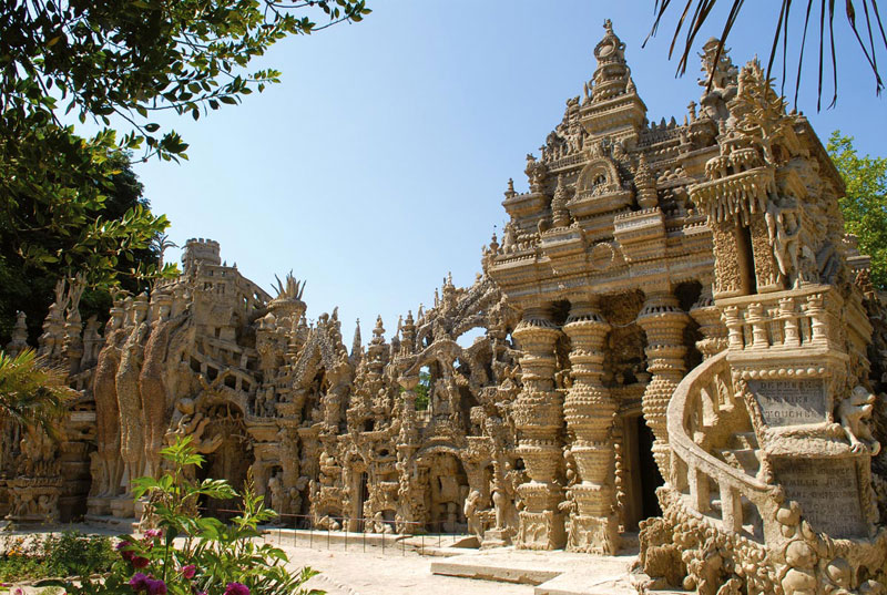 Castle made from pebbles in the south of France