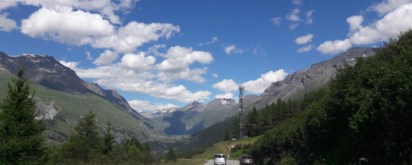 Driving the Col du Mont-Cenis in the French Alps