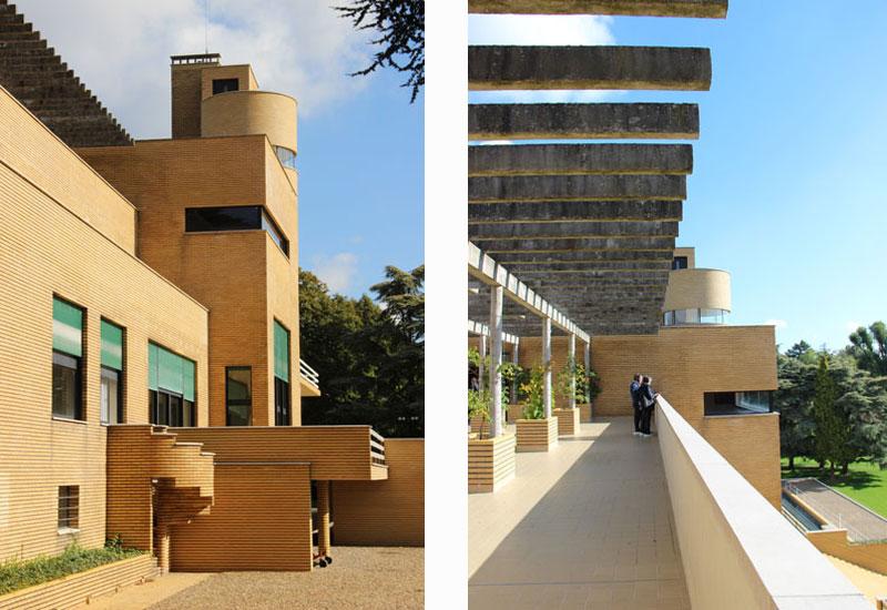 villa-cavrois facade and roof top