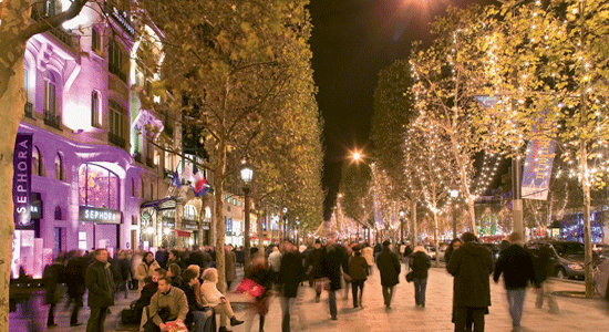 champs elysees christmas - Paris Christmas Markets