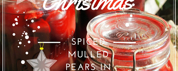 Spiced Mulled Pears a la Francais