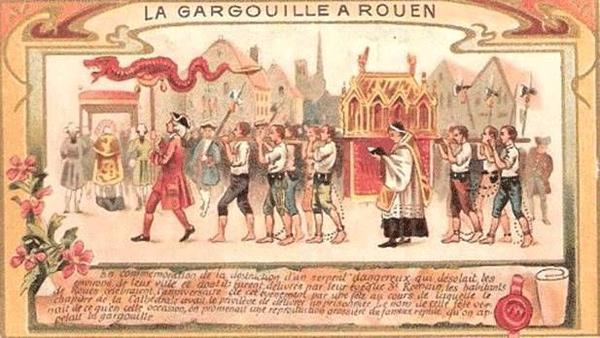 The origin of french gargoyles for Magasin rn st priest rouen