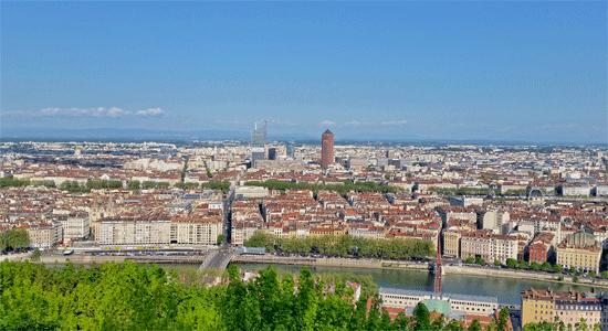 Lyon-france-aerial-view