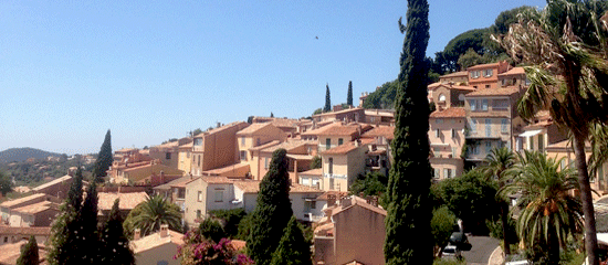 Beautiful Bormes-les-Mimosas south of France