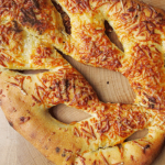 Recipe for three cheese Fougasse bread from France