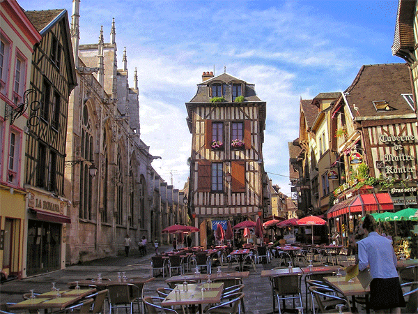 City of Troyes in Champagne France
