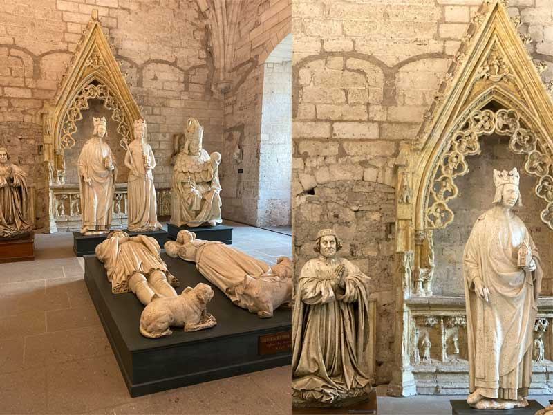 Statues of saints in the Palace of the Popes, Avignon