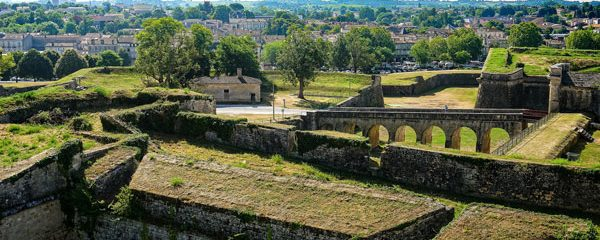 Step back in time in the town of Blaye Aquitaine France