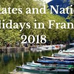 Key dates and National Holidays in France 2018