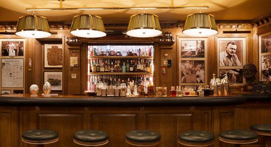 The bar at Bar Hemingway, Ritz Hotel Paris