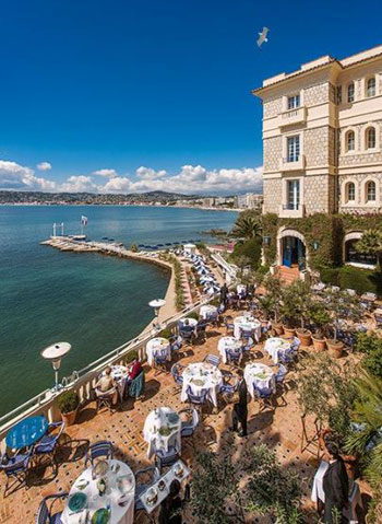 View of Bay of Antibes France