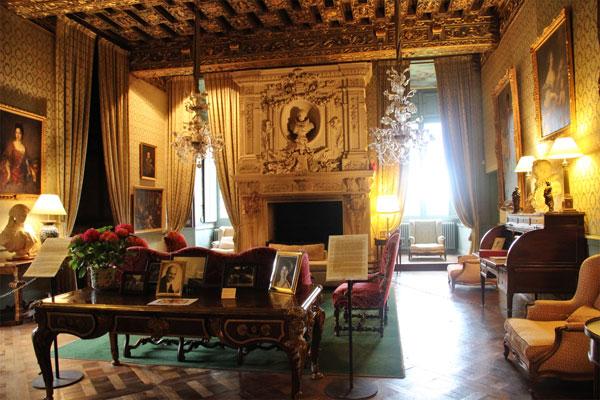 Elegant sitting room of the Chateau de Brissac