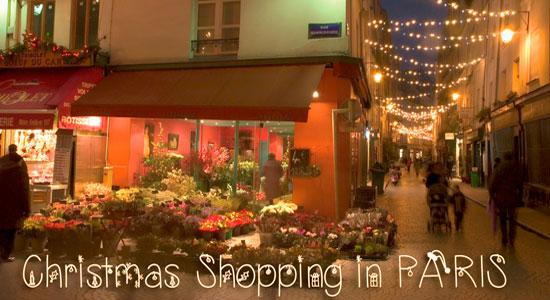 rue Montorgueil Paris lit up for Christmas