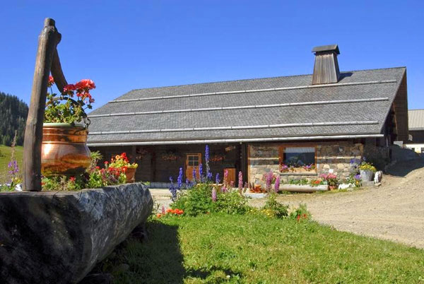 Farm de Lorette on a sunny day