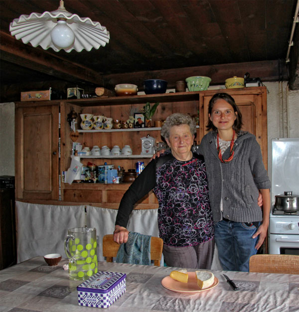 grandmother and grandaugter cheese makers at their farm in Haute Savoie