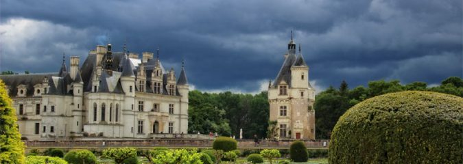 The gorgeous gardens of the Chateau of Chenonceau, Loire Valley