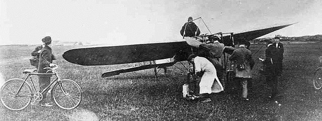 Louis Bleriot the first person across the English Channel by air
