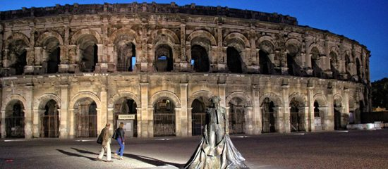 The Roman sites of Nimes, southern France