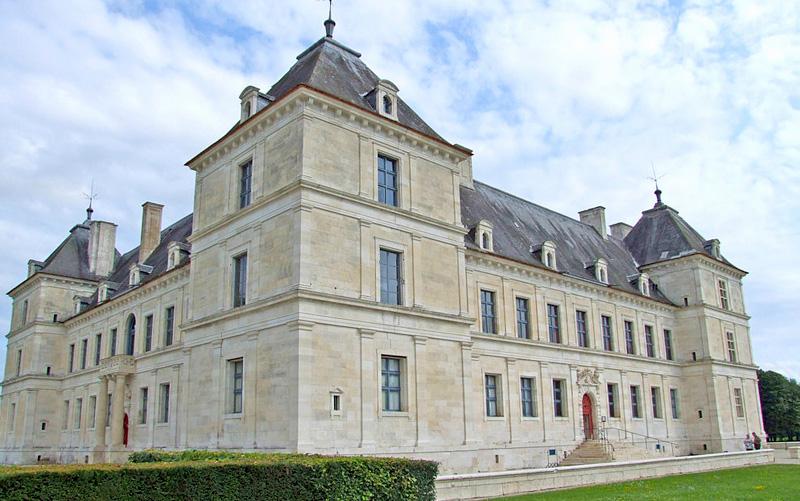 The facade of Renaissance Chateau d'Ancy le Franc Burgundy