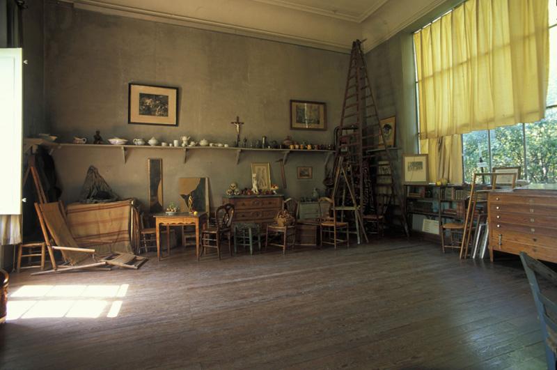 Inside the studio of artist Paul Cezanne in Provence