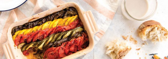 Recipe for Ratatouille Tian a classic dish of Provence